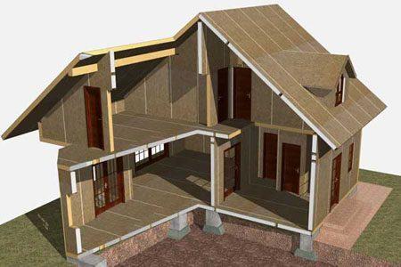 Строительство зданий на основе стеновых SIP панелей в Тольятти